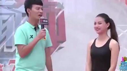 男生女生向前冲: 美女校花穿着连衣裙上节目, 主持人: 这不是来比赛的, 是来秀的