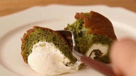 「烘焙教程」教你做经典甜品—抹茶瑞士卷, 满满的诚意