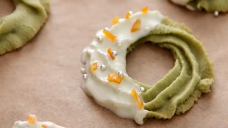 「烘焙教程」教你做抹茶饼干甜甜圈, 小仙女的必备甜品