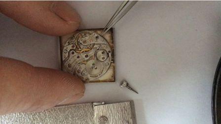 谢斌钟表维修实例-一枚百达翡丽铂金超薄腕表