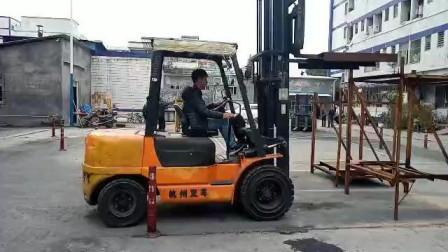 塘厦叉车培训考证学员叉车培训实操练习过程