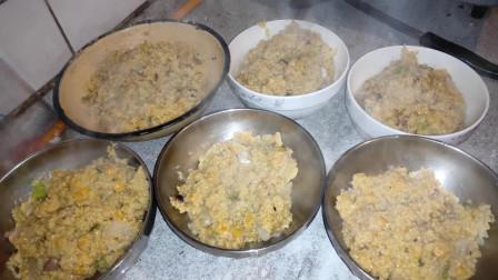 """河南农村特色美食""""小米稠饭"""", 一锅饭有菜有米, 北方的""""大米干饭""""养胃营养"""