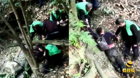惊险!四川成都一200斤醉酒男差点掉下悬崖 一群人出手施救!