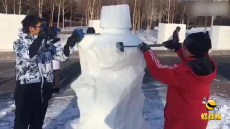 黑龙江哈尔滨大学校园雪雕大赛开赛!