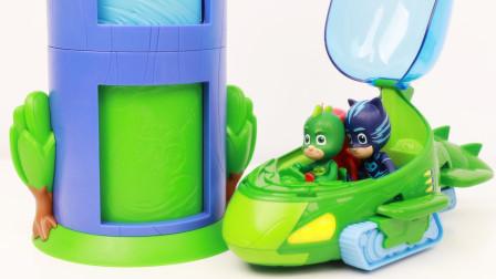 睡衣小英雄玩面包超人扭蛋机 月之女没有扭到惊喜蛋玩具大哭