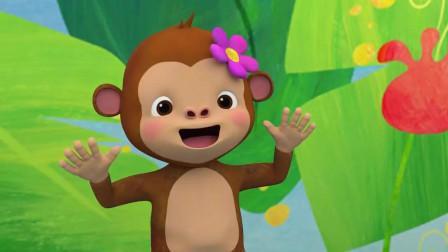 五只猴子呀 掉呀掉下床