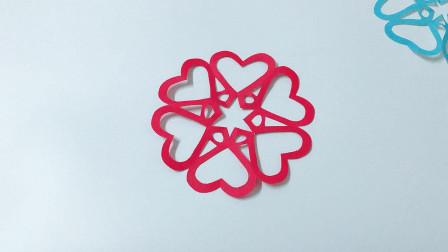 新年心形剪纸窗花, 做法非常简单, 看一遍就会了, 手工视频教程