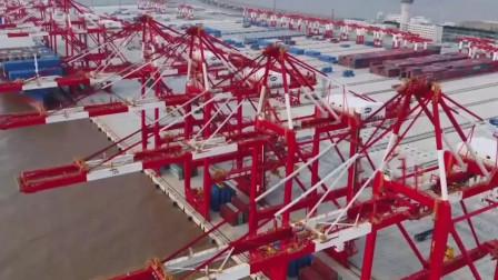 中国科技的发展! 上海自动化码头!