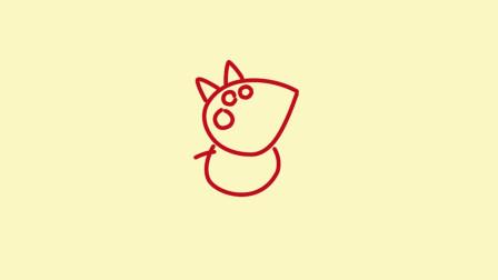 少儿图书绘画一学画小猪佩奇的朋友狐狸弗雷迪