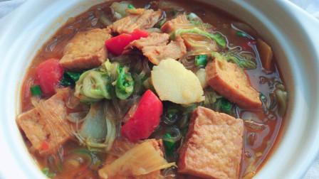 陕西特色大烩菜的做法, 西北农家冬季餐桌上最爱的炖菜, 一炖一大锅, 吃了全身暖和