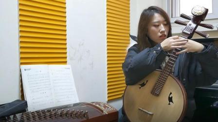 """中国最早的乐器中阮, """"泛音""""该怎么演奏呢 ? 一节课教会你!"""
