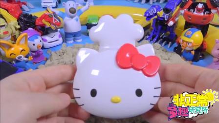 【非正常玩具实验室】小猪佩奇在沙滩制作hello kitty