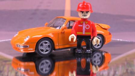 法拉利跑车赛车 儿童仿真合金汽车模型早教视频