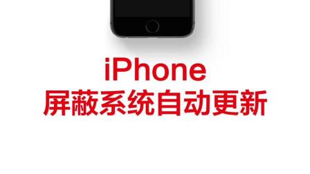 禁止iPhone系统更新的方法
