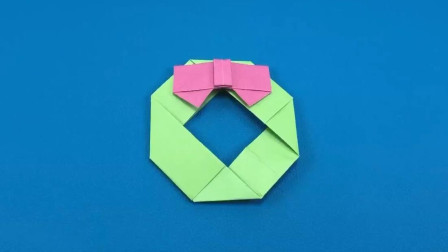 025手工折纸教程, 如何手工制作圣诞花环? MRDIYS手工视频教程!