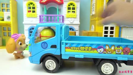 小企鹅啵乐乐 啵乐乐的回力车玩具