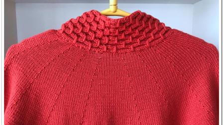 《一线连大衣》的编织方法(2):圆肩部分视频全集