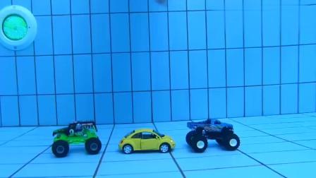 小正太过家家游泳潜水, 救援玩具汽车, 体育运动