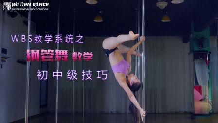 WBS舞蹈教学系统【钢管舞教学】 初中级技巧练习10 舞本舞蹈培训学校
