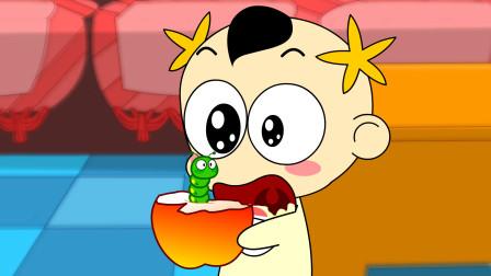 奶瓶小星:苹果蛆, 搞笑动画短片