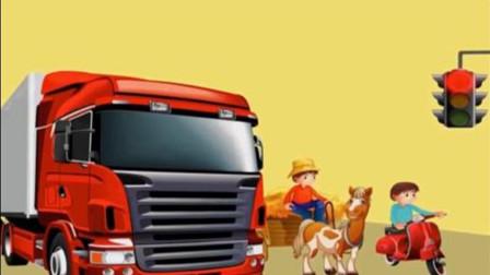 在一个十字路口, 有一辆卡车马车和摩托车, 请问他们谁违法了?