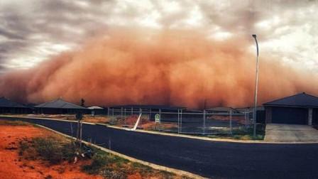 澳大利亚东南遭遇红色沙尘暴 高20米宛如世界末日