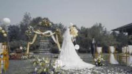 户外婚礼布置   霍达婚礼视频