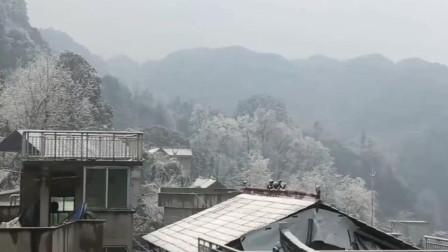 贵州苗族美女出嫁, 雪下得很大, 突然响起了这首歌