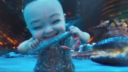 哪吒放了一个大屁,直接把大螃蟹崩裂了,可以吃大蟹腿了哈哈