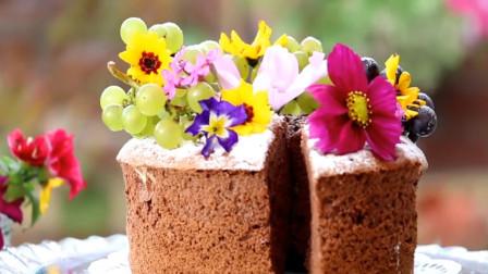 「烘焙教程」巧克力海绵蛋糕, 松松软软弹性十足