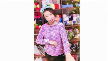 小辛娜娜编织2018第94集从上往下织的成人插肩袖毛衣袖子织法编织教程与图解