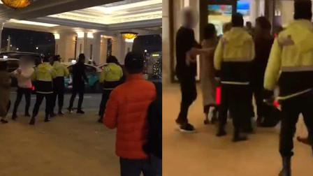 有何隐情? 内地游客在澳门一酒店前竟冲撞警察 警员开枪示警