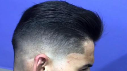 新款男士背头的详细修剪方法, 供美发师参考
