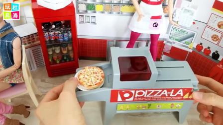 芭比娃娃送外卖 白雪公主的披萨店