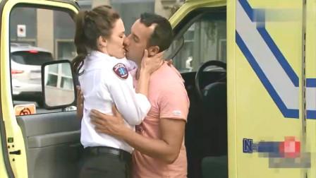 国外恶搞: 妻子就要生孩子了, 丈夫却在和救护车司机热吻