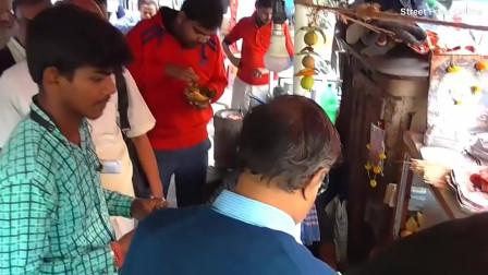 印度街头美食: 烤面包! 看完这制作过程, 想来一份吗?