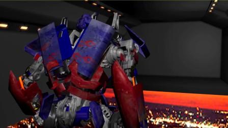 《变形金刚》自制3D变身特效动画! 擎天柱高空跳机动画