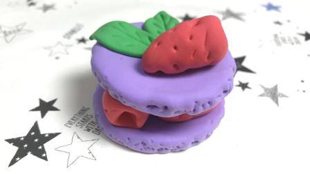 超轻粘土制作教程, 小姐姐教你做超有食欲的覆盆子蛋糕, 一起学起来