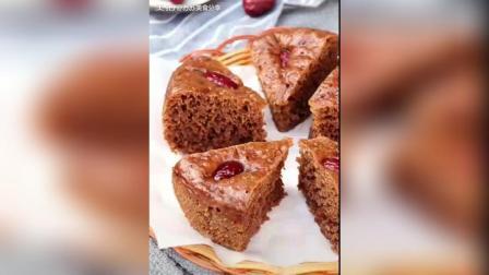 加了红糖的发糕, 和蛋糕一样好吃~