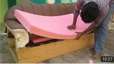 国外牛人将旧沙发翻新, 这技术真的是太赞了
