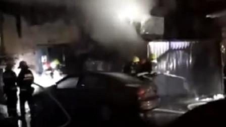 哈尔滨两人打架, 餐厅厨师出去看热闹忘了锅里烧油, 造成大火