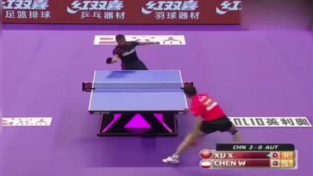 乒乓球世锦赛, 许昕削球戏谑对手, 游刃有余轻松无压力!