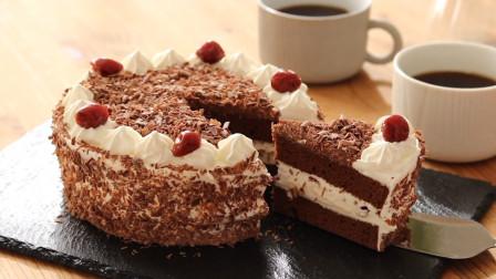 甜美可口的樱桃黑森林蛋糕, 经典美味的德式甜点