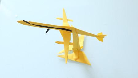 2张A4纸折1架帅气的飞机模型, 简单易学, 手工折纸视频大全