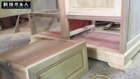多层双开门大衣柜制作全过程, 板材木料切割组装!