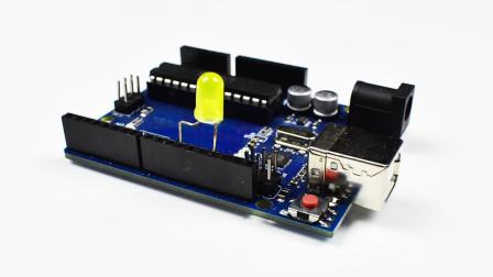 最简单的arduino呼吸灯实验, 初学者编程入门必学项目