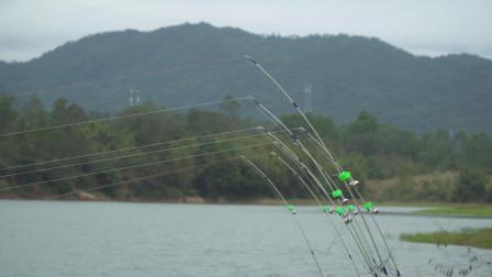 冬天钓鱼小哥用抛竿, 不够5分钟就上了条鲤鱼, 连黑鱼都能上