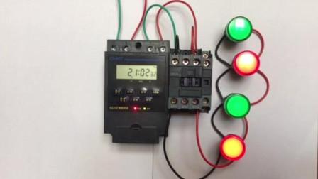 电工知识: 时控开关使用方法, 如何控制接触器接线步骤一一讲解
