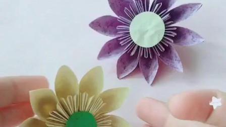 DIY手工制作樱花折法视频教程: 组合型花朵, 好看吗?