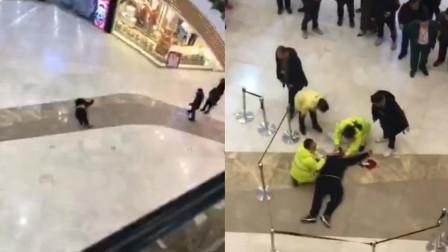 浙江绍兴: 离奇惨案! 男子突然跃出商场护栏从4楼跳下 妈妈 吃着饭人就不见了